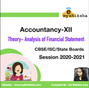 Chapter : Analysis of Financial Statement (Accountancy XII)