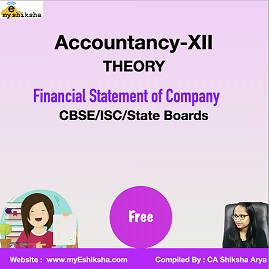 Video Lecture -Financial Statement of Company (Accountancy-XII) Theory