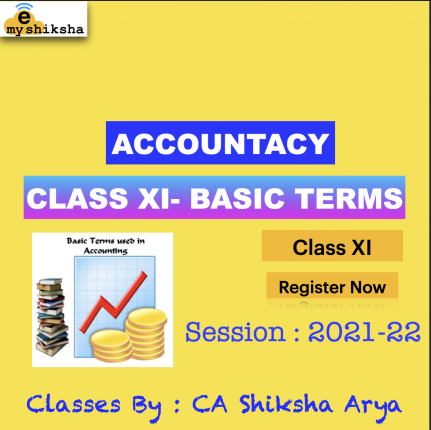 Accountancy -XI (Basic Terms of Accounting)