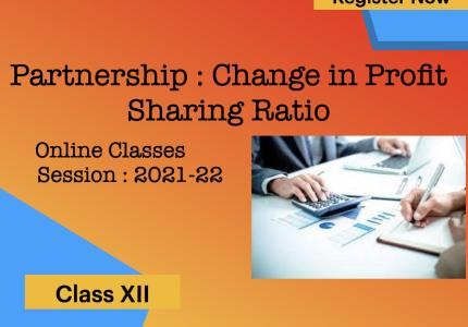 Change in Profit Sharing Ratio