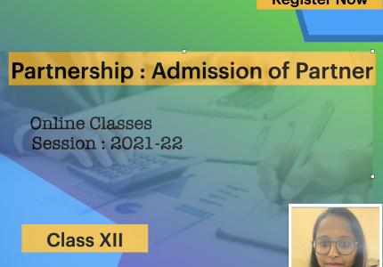 Admission of Partner-XII